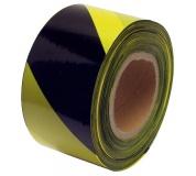 Varovací páska 80mm x 250M černo-žlutá