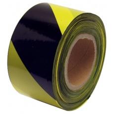 Páska varovací 80mmx250m ćernožlutá