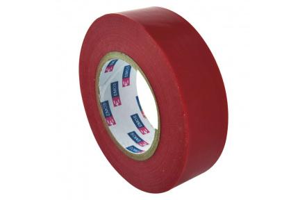 Izolační páska PVC 19mm / 20m červená - 10ks