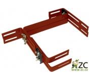 Držák na truhlík balkon - kovový Fantazie Smart (Balconera) terakota (2ks)