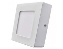 LED panel 120×120, čtvercový přisazený bílý, 6W teplá bílá
